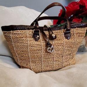Brighton straw satchel purse